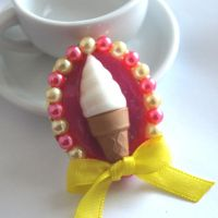 Ice Cream Dream Brooch by AndyGlamasaurus