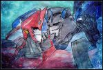 Sideswipe and Jazz by Aiuke