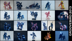 Overview of all my works in 2013 by Groovebird