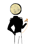 Man in the moon. Pocketwatch by FluffyAlbinoBacon