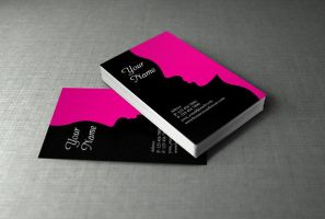 Personal Business Card Illustrator Template Free by BorceMarkoski