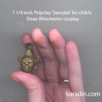 Polyclay 'Samulet' for Child's cosplay by karadin