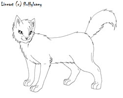Free Cat Lineart -female- by fluffylovey