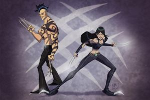 X-23 And Daken Commission by pychopat2