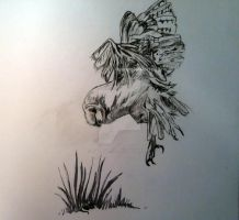 Inktober 2015: Day 18 - Owl in flight (Time lapse) by SuzanneHole