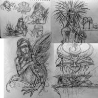 Dr Sketchy's Aztec Comp by rawjawbone