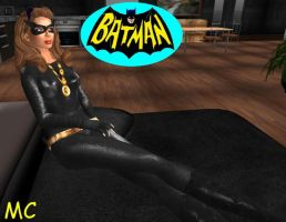 The Catwoman In Her Lair by The-Mind-Controller