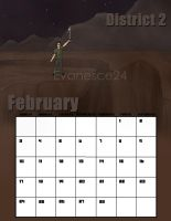 Districts of Panem 2013 Calendar: February, D2 by evanesce24