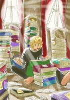 Mello is Studying by Anime-2000