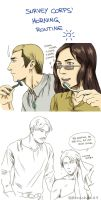 Survey Corps' Morning routine by Hanatsuki89