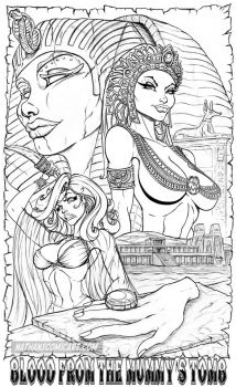 Blood from the Mummy's Tomb - Version B pencils by nathanscomicart