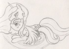 Snuggling Sisters by Airtower