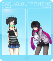 MM: Casual Outfit Meme by Amacchu