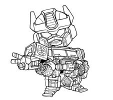 SuperDeformed Energon Prime by dyemooch