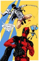 Dr McNinja vs Deadpool- color by pikapikaichigo