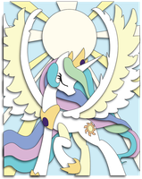 Commission: Celestia Raising the Sun by The-Paper-Pony