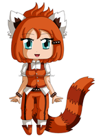 [CLOSED] ADOPTABLE: Red Panda Kemonomimi by izka197