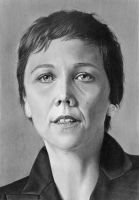 Pencil portrait - Maggie Gyllenhaal as Nessa Stein by LateStarter63