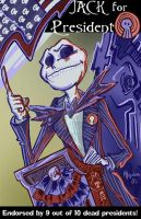 Jack Skelington for President. by mannycartoon