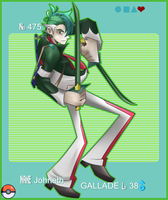 Gallade Gijinka - Johneth by SkyIsland1