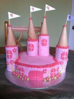Princess Castle Birthday Cake by Stacey2512