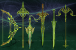 (OPEN-SP) - Weapon Set #020 -  Shimmering Leaf by Timothy-Henri
