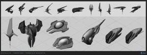 bfg: misc ship concepts by AdamRoush