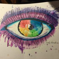 Rainbow eye by VelvetBlackRose