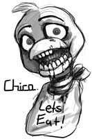 Chica - Five Nights at Freddy's by AccursedAsche