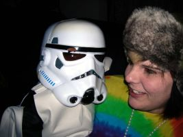 Hippie and Storm Trooper. by sinkist