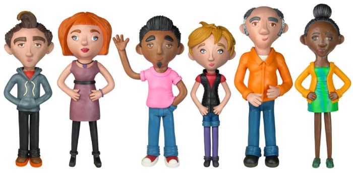 Plasticine Characters by spr0ket