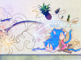 Mukuro+pineapple+sama wall by TheHopeMaker