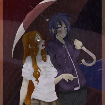 Stardew Valley- Out in the Rain by AriaSolarena