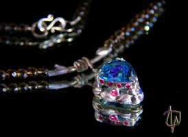 Water garden Pendant by CosmicFolklore