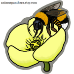 Acrylic charm- Arctic bumblebee by Animus-Panthera