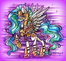Armored Celestia by frostykat13