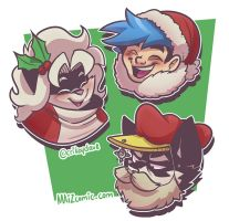 Christmas Faces by SupaCrikeyDave