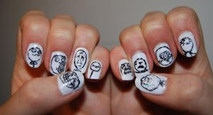 Meme Nails :D by AnnaGartz