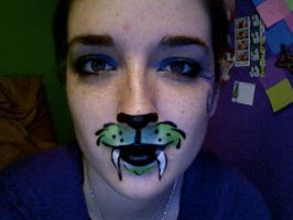 Green Muzzle Face Paint by lygicaphisalogue