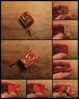 Phoenix miniature book, OOAK by Maylar