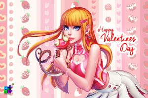 Valentine Digit 2014 by sakuyasworld