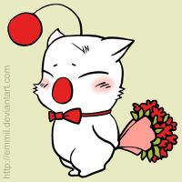 FOR SALE! Valentine Moogle by art-adoption