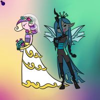 Evil Queen Chrysalis Adventure Time Style by HeartStringsXIII