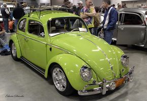 Lime VW beetle by E-Davila-Photography