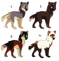 Wolf Pups 1 [CLOSED] by dizzyAdopts