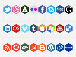 Social hexagons by Clubberry