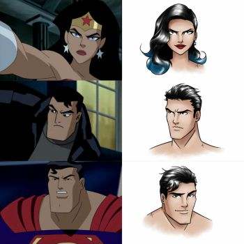 Justice League Unlimited Redesign (Part 1) by mariananaca