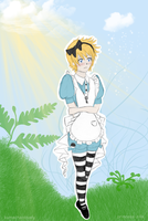 Roxas in Wonderland by JustSomeMaddy