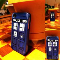 Tardis iPhone 4 Case by tacoroach