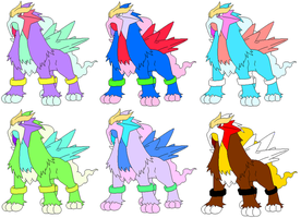 Entei Adopts by Aimees-Adoptables